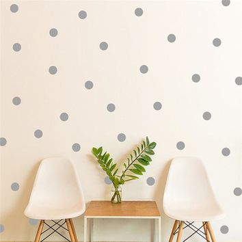 20pcs/54pcs Mini Polka Dots Wall Sticker Nursery Kids Rooms Children Wall Decals Refrigerator Home Decor DIY Art Wall Decoration