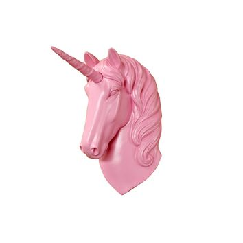 The Mini Luna | Mini Unicorn Head | Faux Taxidermy | Blossom Pink Resin