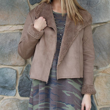 Mocha Fur Lined Jacket