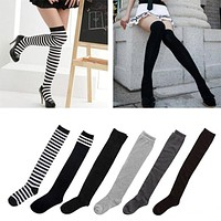 Women's Cotton Sexy Thigh High Over The Knee Socks Long Stockings