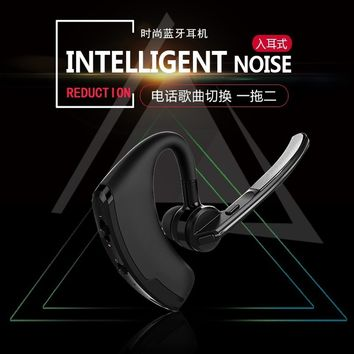 Luxury Business Bluetooth Earphone Sport Wireless Headset Bass Earbuds Music Earphone with Micophone Headphone for phone