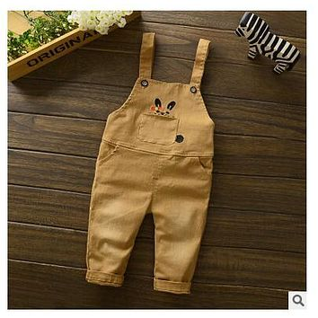 2016 Hot Sale Baby Boy Overall Jumpsuit Toddler Clothing Pants Bodysuit Girls the cowboy Cotton Thick Autumn Outerwear