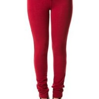 Stretch Jeggings in Wine Red, Large