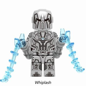 Legoings Marvel Ironman Super Heroes Avengers Whiplash Action Figures Building Blocks Toys For Children Legoing Superhero XH716