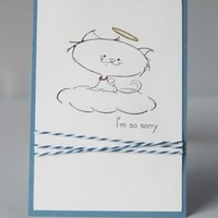 Loss of Cat Thinking Of You Pet Sympathy Hand Made Card