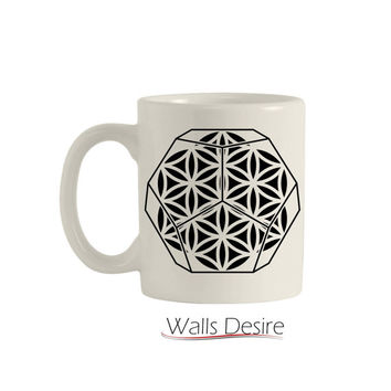 Dodecahedron, Flower Of Life Pattern, 11 Oz. T00108