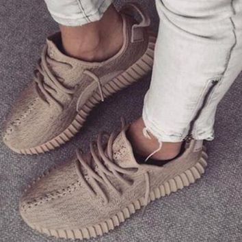 Adidas yeezy boost 350 men and women tide brand fashion trend classic sports running casual shoes F Khaki