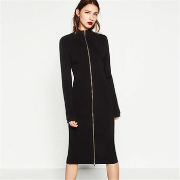 Knit Winter Women's Fashion Sweater Dress One Piece Dress [10203231111]
