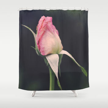 Vintage Rose Shower Curtain by Legends Of Darkness Photography