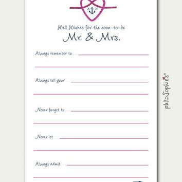 Anchor Nautical Themed Personalized Advice Cards