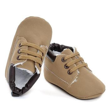 Winter Warm Baby Shoes Infant Boy Girl Soft Sole Leather First Walkers Newborn Anti Slip Crib Shoes