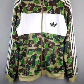 ONETOW BAPE x ADIDAS Men Fashion Jacket