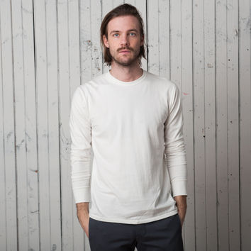 The Signature T Long Sleeve   White Jersey