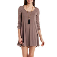 Jersey Knit Trapeze Dress