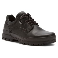 Ecco - Track 6 GTX Plain Toe Tie Black Orion/Oil Nubuck at Mar-Lou Shoes