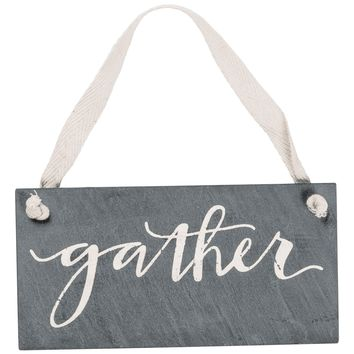 Gather Hanging Sign