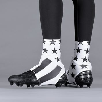 Tactical White USA Flag Spats / Cleat Covers