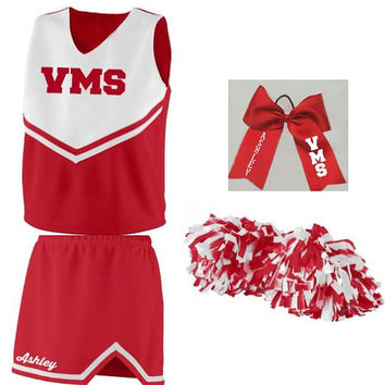 Girls Cheer Spirit Uniform Full Set or Uniform Only
