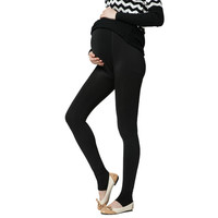 Plus Velvet Thickening Winter Maternity Leggings Pants Clothes For Pregnant Women Warm High Waist Suspender Pregnancy Trousers