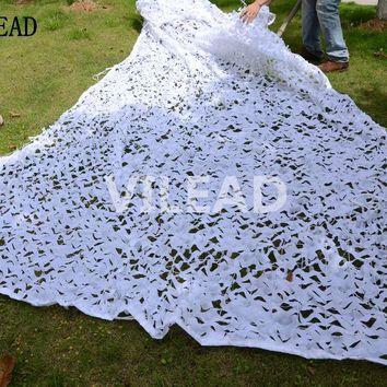 VILEAD 5M x 5M (16.5 x 16.5FT) Snow White Digital Camouflage Net Military Army Camo Netting Sun Shelter for Hunting Camping Tent
