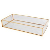 Threshold™ Glass and Metal Vanity Tray : Target