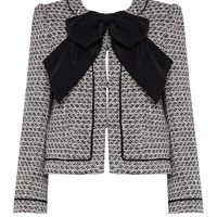 alice + olivia | IVETTE CENTER FRONT BOW BOX JACKET