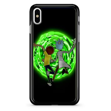 Rick And Morty Portal 2 iPhone X Case