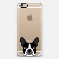 Boston Terrier Cell Phone case for dog lovers dog person gifts clear iphone case black and white puppy iPhone 6 case by Pet Friendly | Casetify