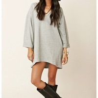 Blue Life Cozy V-Neck Sweater Dress
