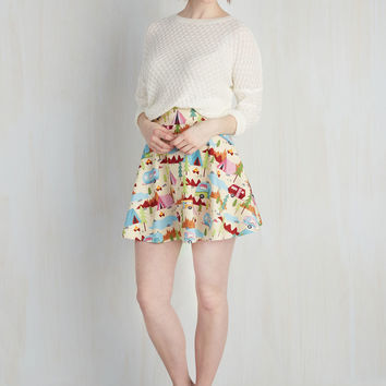 Playful Feeling Skirt in Campers | Mod Retro Vintage Skirts | ModCloth.com