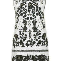 Embroidered Crystal Dress - Monochrome