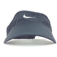 Nike Dri Fit Black Golf Beach Sun Visor Hat Cap Adj Womens Size Poly