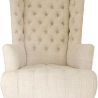 Highback Tufted Chair - One Kings Lane - Vintage & Market Finds - Furniture