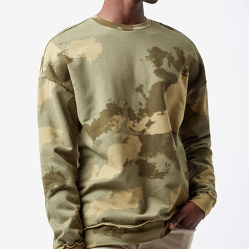 PacSun Montee Camouflage Crew Neck Sweatshirt at PacSun.com