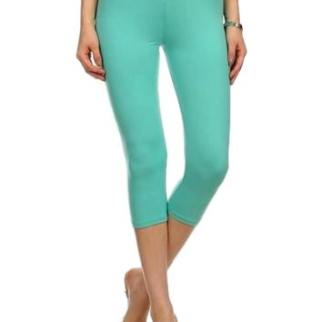 Capri Leggings, Light Blue