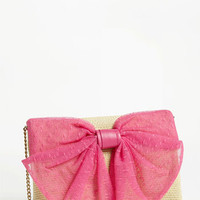 RED Valentino 'Bow' Straw Crossbody Bag | Nordstrom