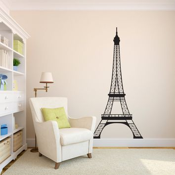 Eiffel Tower Wall Decal - Paris Decor - Parisian Sticker - Extra Large - 6 foot high decal