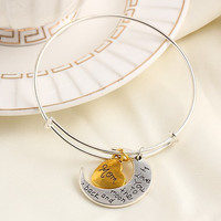 """I Love You To The Moon and Back"" Adjustable Bangle Bracelet - Mom Daughter Grandma Sister Aunt"