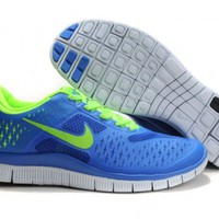 Nike Free 4.0 NIKE FREE 4.0 V2 Nike Running Shoes - Blue×Green×White : Soccer Shoes - Basketball Shoes - Running Shoes - Football Shop: Sports & Outdoors, Men's, Women's, Free Shipping!