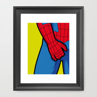 The secret life of heroes - SpiderItch Framed Art Print by Greg-guillemin