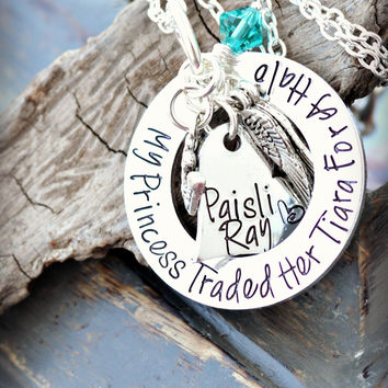 In loving memory - In memory of - remembrance jewelry- Loss of a child - loss of daughter - loss of baby -baby memorial jewelry mourning