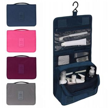 Unisex foldable Hanging Toiletry Bag or  Cosmetic Travel Organizer