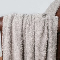 Fluffy Woven Throw with Fringe