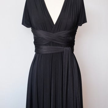Black Infinity Dress Convertible Formal Multiway by AtomAttire