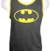 DC Comics Batman Logo Adult Black T-shirt Tank Top