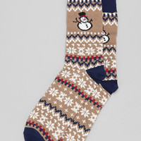 Holiday Pattern Camp Sock - Urban Outfitters