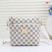 LV Louis Vuitton New fashion monogram check leather couple shoulder bag 3#