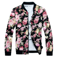 Men's Bomber Fashion Camouflage Casual Outwear Jacket