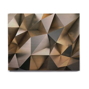 "Susan Sanders ""Modern Metal Silver Gold"" Gray Gold Abstract Contemporary Photography Birchwood Wall Art"