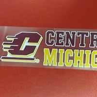"NCAA Central Michigan Chippewas Perfect Cut Decal 3"" x 10"""